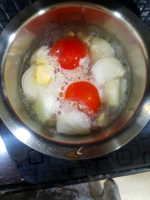 boil onion tomato ginger garlic
